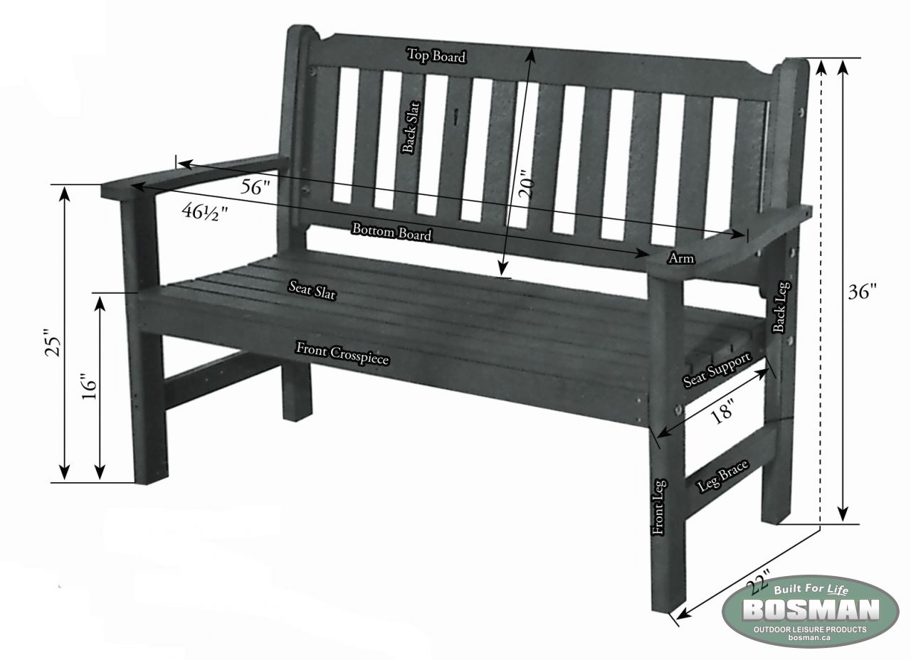 Garden Bench Our Products Bosman Homefront