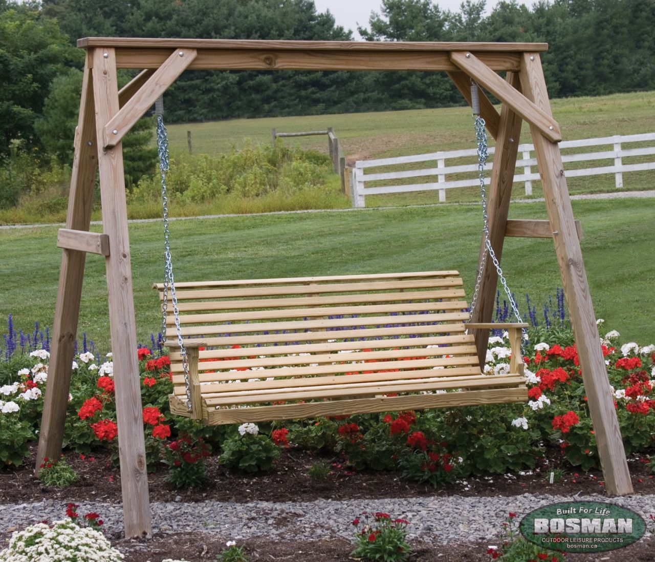 Wooden A-Frame for 5\' Porch Swing - Our Products - Bosman Homefront